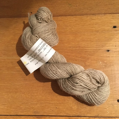 DSF  Cross Finnsheep Oatmeal 2-ply pindrafted SPORT