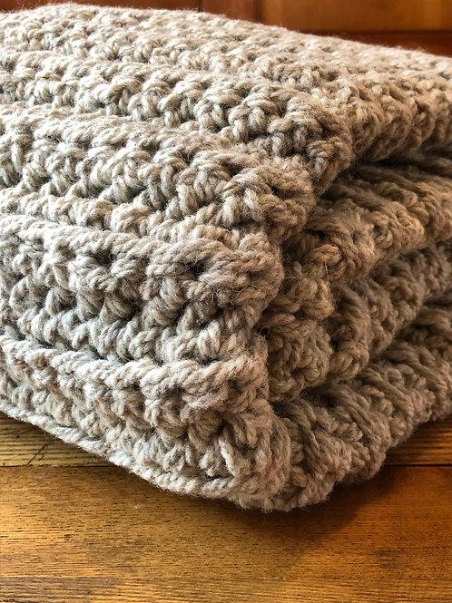 Bulky Wool Throw Blanket