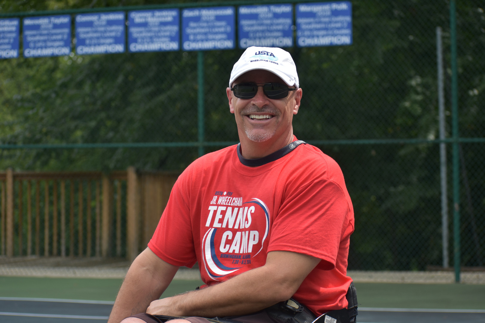 Team USA Coach Paul Walker at the 2018 USTA/ITF Junior Wheelchair Tennis Camp of the Americas, Birmingham, Ala. - July 2018