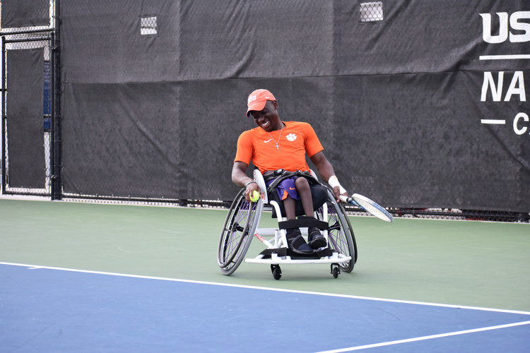 Marsden Miller of Clemson University competes at the 2019 Collegiate Wheelchair Tennis National Championships - April 2019