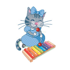 Kitty Cat & Xylophone