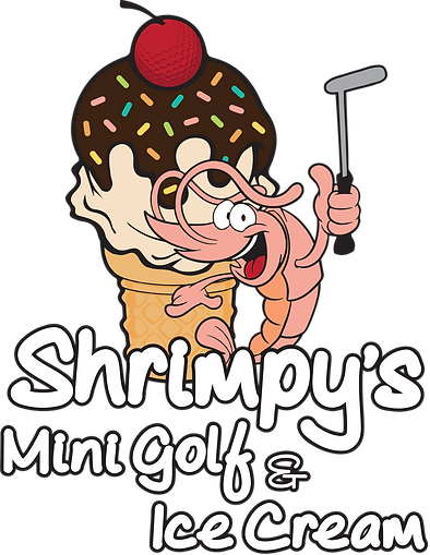 Shrimpy's Mini Golf and Ice Cream logo