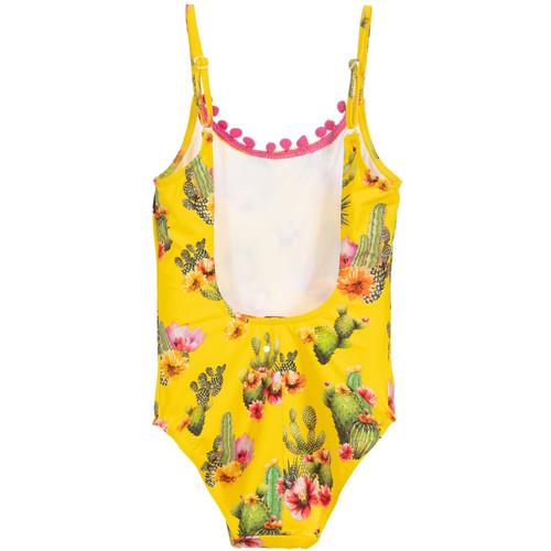 94074278f239c Selini Action - Girls Yellow Cactus Print Swimsuit