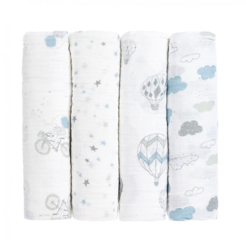 Dreamy Elephant swaddles - Pack of 4