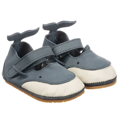 Donsje - Blue Shark Leather Baby Shoes