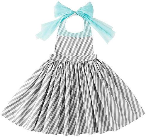 Apron Bib Dress - Stripe