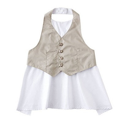 Garcon Apron Bib - Light Grey