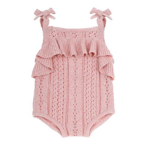 Blush Pink Knit Romper
