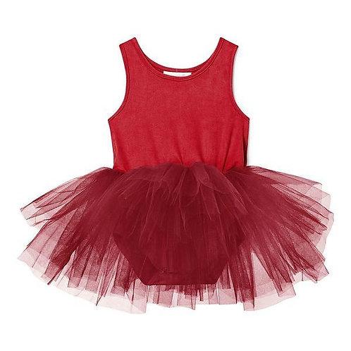 Suede Darcy Red Tutu Dress