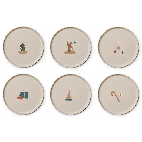 Holiday Mix Plate - Set of 6