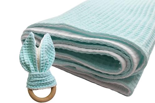 Aqua Minty Blanket Teether Set