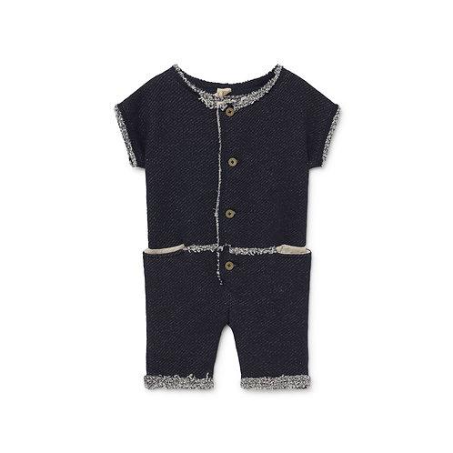 LCF - Baby Denim Jersey Overalls