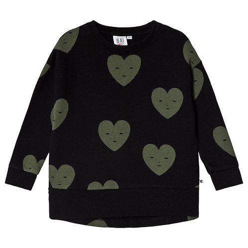 Beau Loves - Black Hearts Relaxed Sweatshirt