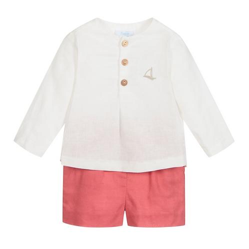 Baby Boys Red & White Short Set