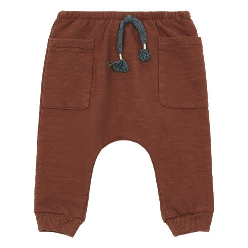 Buho - Organic Fleece Rust Harem Pants