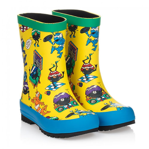 STELLA MCCARTNEY - Yellow Monsters Rain Boots