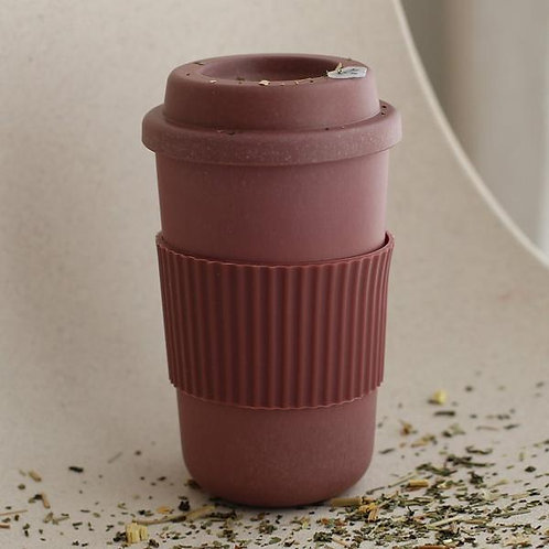 Bamboo Reusable Coffee Cup - Beet