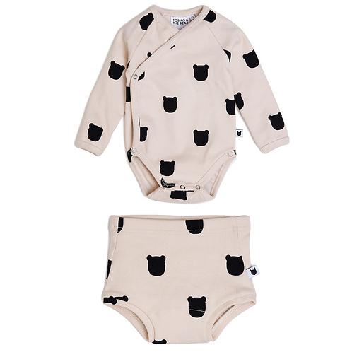 Blush Bear Kimono Bodysuit & Bloomers