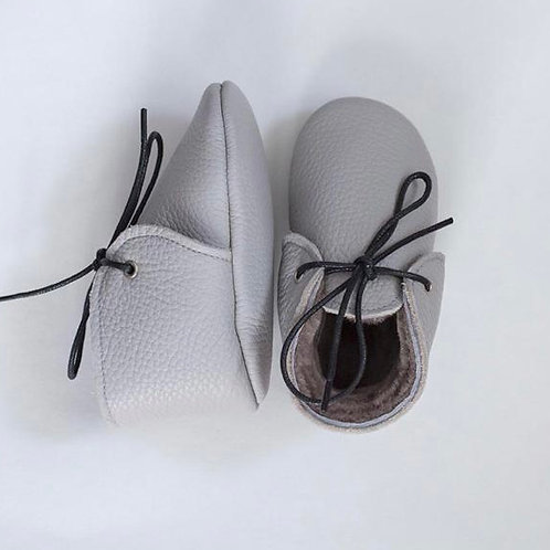 Baby Steps - Grey Fur Shoes
