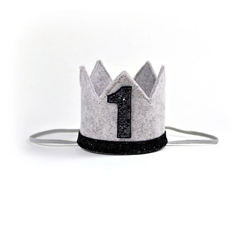 Birthday Crown - Gray & Black - 1