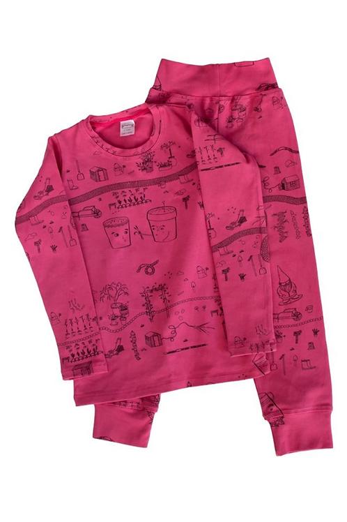 Fuchsia Farm Pajama Set