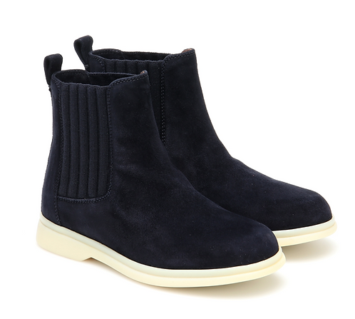 Loro Piana - Navy Suede Boots