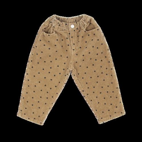 Carduroy Dot Pants - Brown