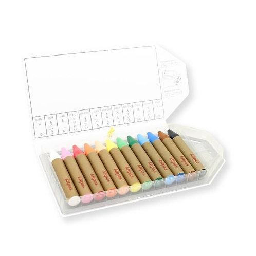 Kitpas - Large Stick Crayons - 12 colours