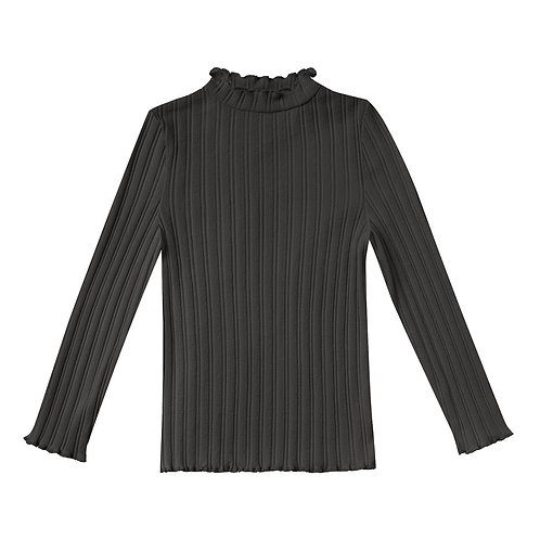 Rylee & Cru - Black Ribbed Turtle Neck