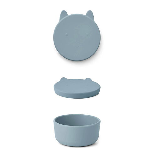 Sea Blue Bunny Silicone Snack Box - Large