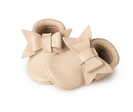 Baby Steps - Pale Pink/Nude Bow
