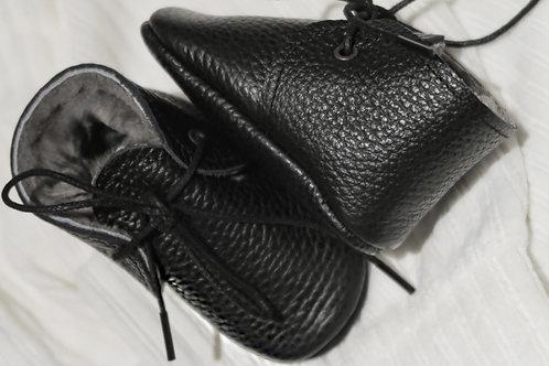 Baby Steps - Black Fur Shoes