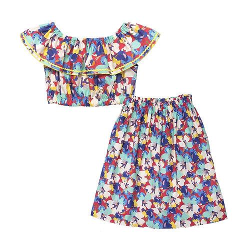 Chamela Bloom Crop + Skirt Set