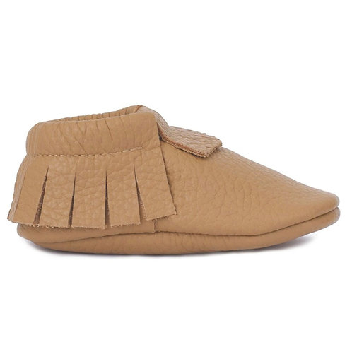 Baby Steps - Cappuccino Fringe Leather Mocs