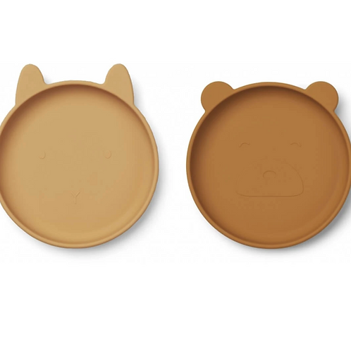 The Mustard Friends Silicone Plate Set