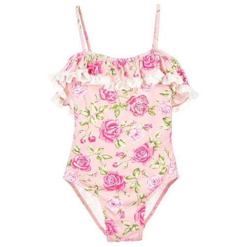 70771e6b959d0 Selini Action - Girls Rose Lace Print Swimsuit