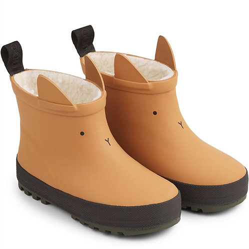 Thermo Rain Boots - Mustard Bunny