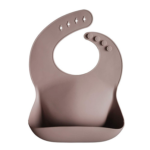 Silicone Baby Bib - Warm Taupe