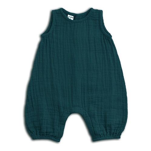 Teal Green Playsuit Organic Cotton