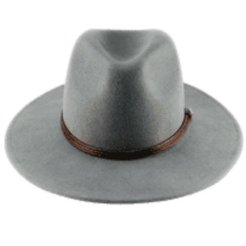 Grey Wide Brim Wool