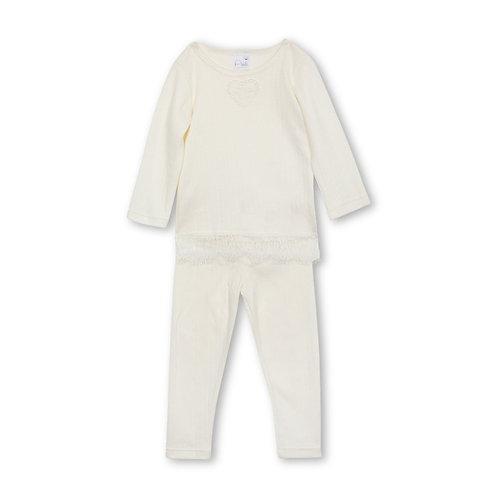 White Diana Pajama Set