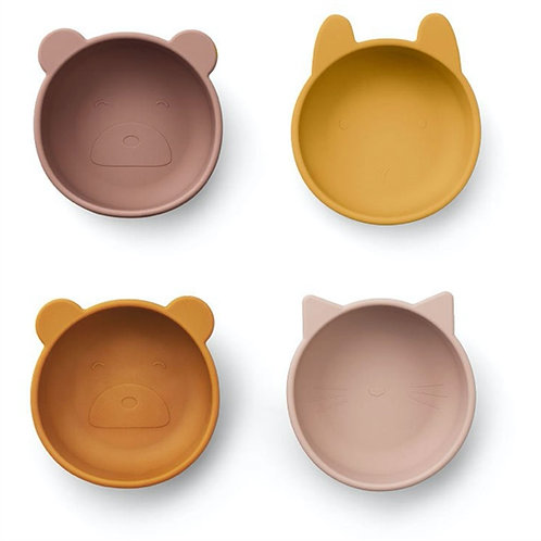 Rosey Friends Silicone Bowls Set