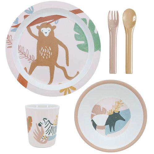 Jungle Life Melamine Dinner Set of 5