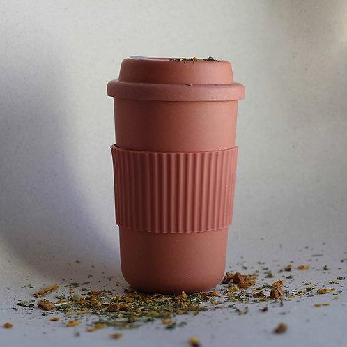 Bamboo Reusable Coffee Cup - Brick