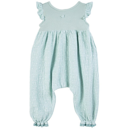 Embroidery Green Baby Jumpsuit