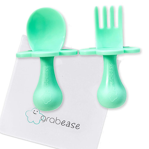 Baby Spoon and Fork Utensils - Mint