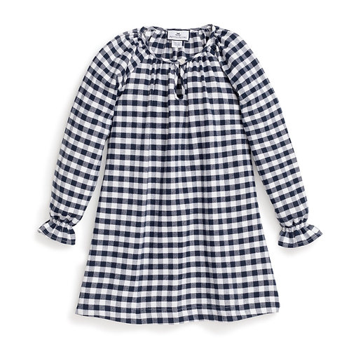 Navy Gingham Nightgown