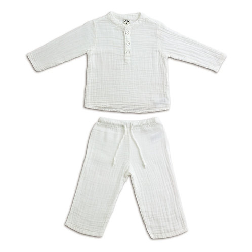 White Organic Cotton Kurta Set