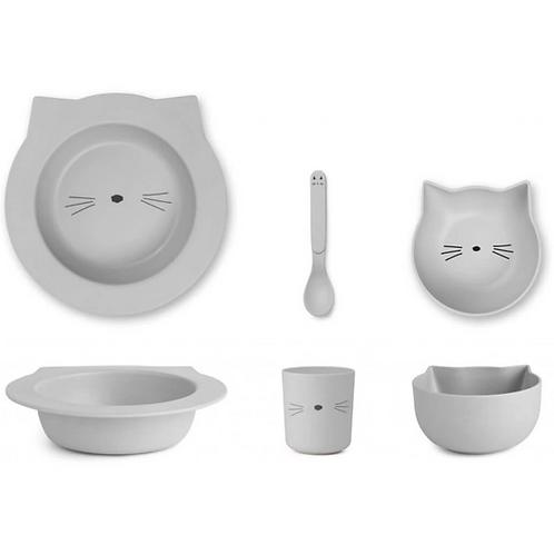 Dumbo Grey Baby Kitty Bamboo Tableware Set