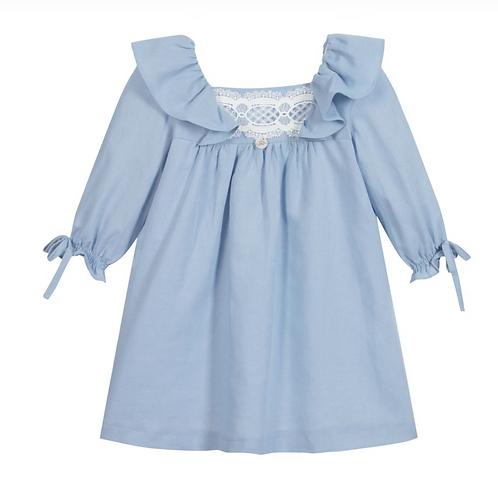 Sky Blue Linen Dress